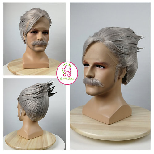 James Moriarty (Fate/grand order) wig + mustache commission