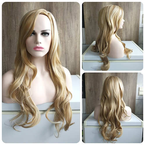 75 cm natural mixed blonde wig