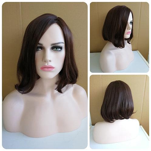 45 cm dark brown wig
