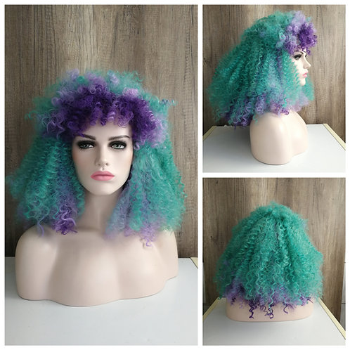 Curly mermaid wig