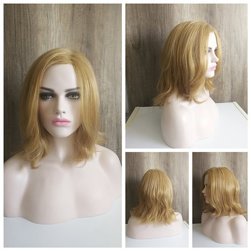 Golden blonde Captain Marvel style wig