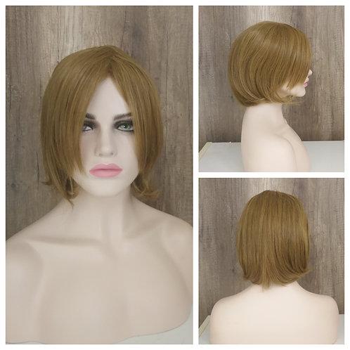 30 cm bob style flaxen blonde wig