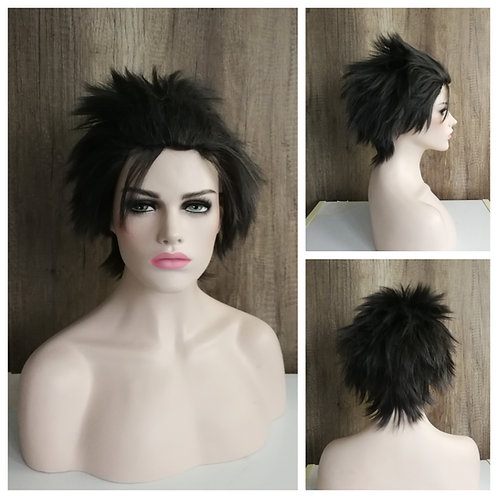 20 cm layered mix black wig