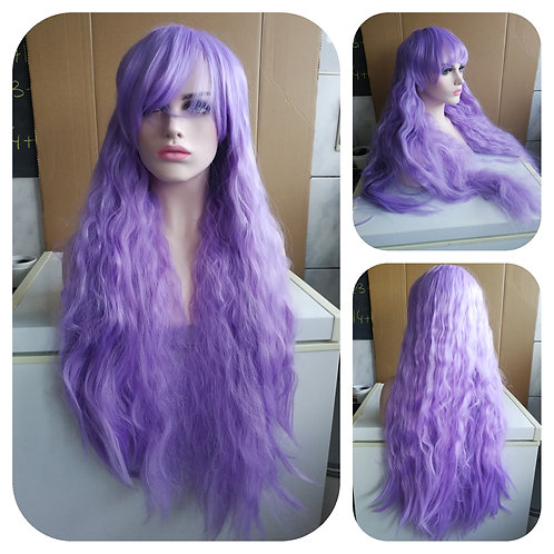 85 cm lilac frizzy wig