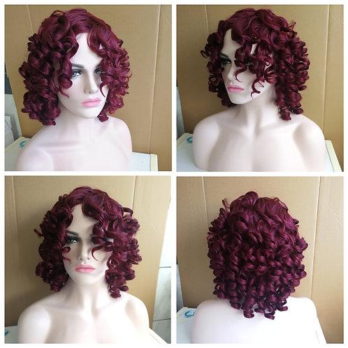 45 cm burgundy wig