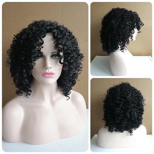 45 cm kinky curly black wig
