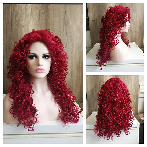 70 cm curly red wig