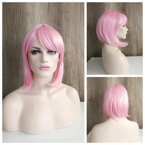40 cm bob style pink wig