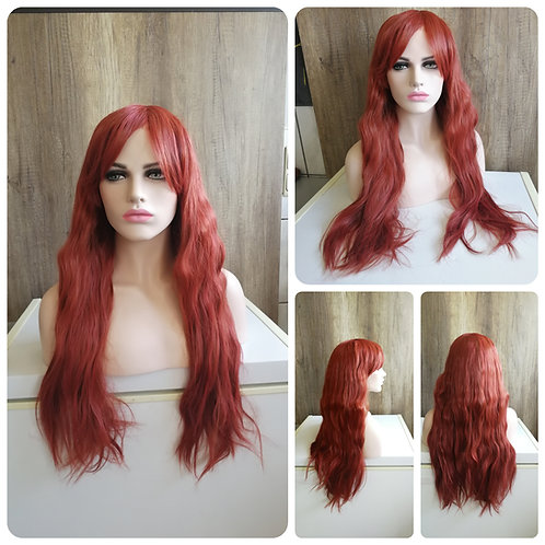 80 cm brick brown wig