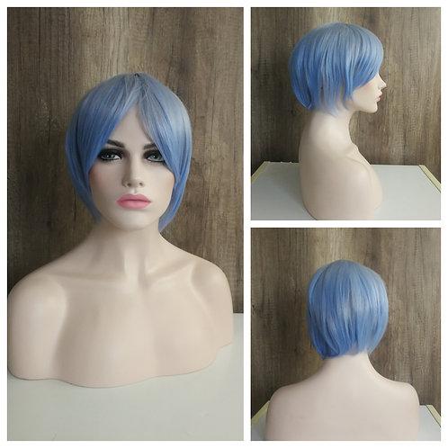 30 cm sky blue wig