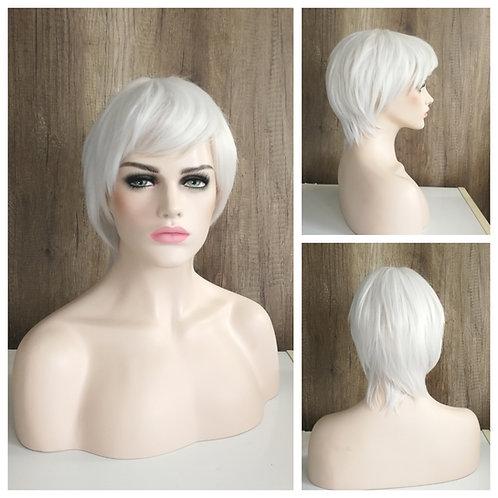 25 cm white wig