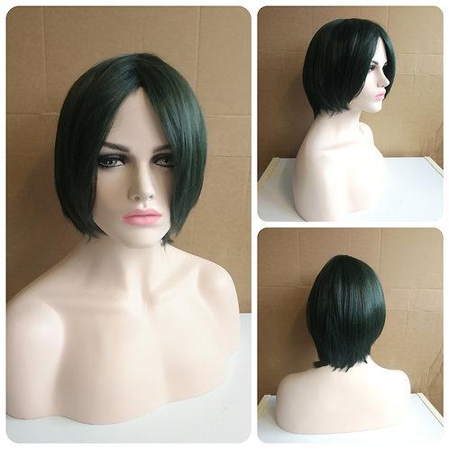 30 cm dark green wig