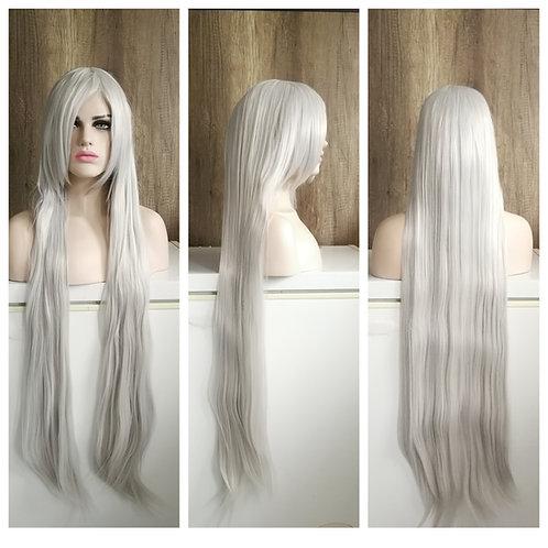 105 cm silver wig