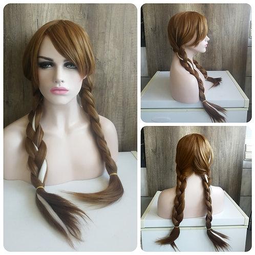 70 cm light brown braid wig Anna Frozen