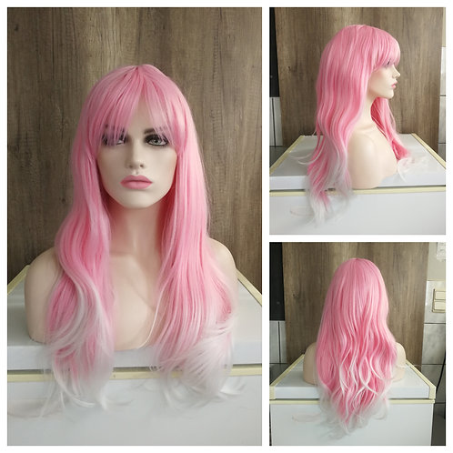 60 cm baby pink layered wig