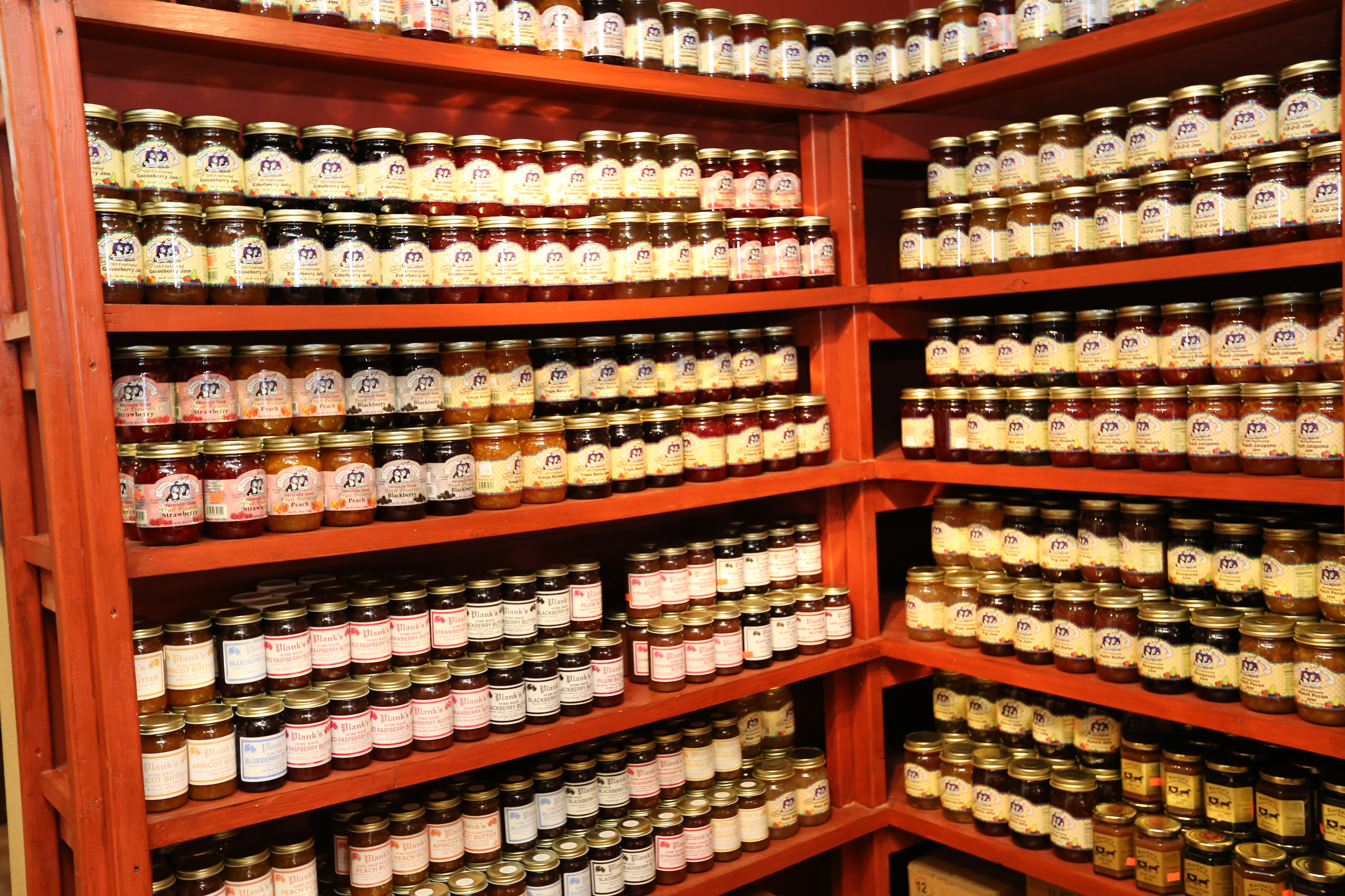 Rows of Jellies and Jams