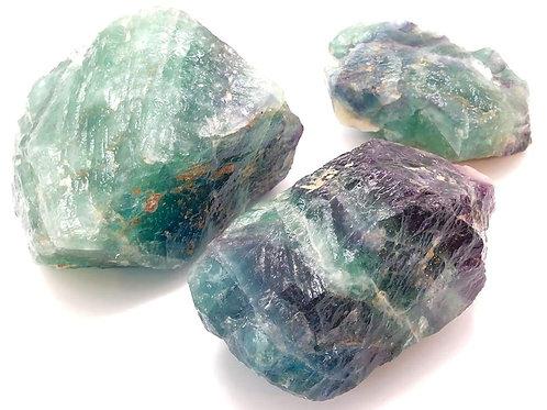 Rainbow Fluorite Rough Crystal