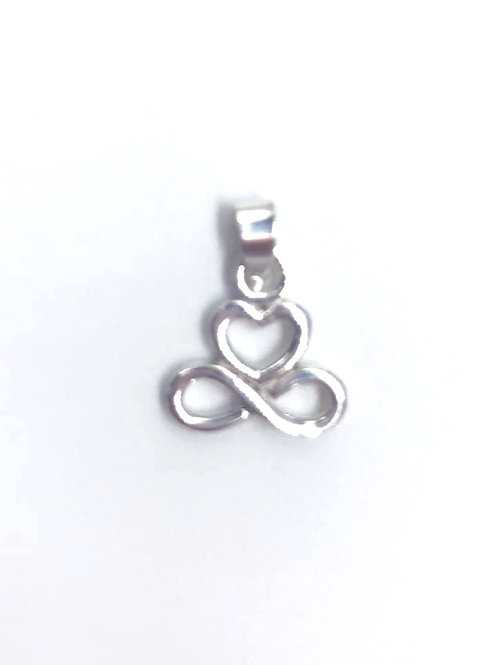 Silver Heart Infinity Pendant