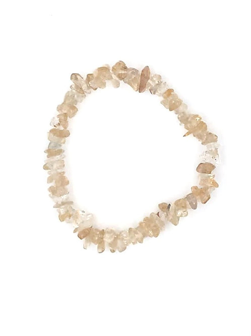 Citrine Crystal Chip Bracelet