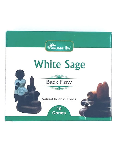 White Sage Back Flow Incense Cones