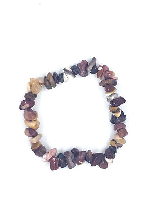 Mookaite Crystal Chip Bracelet