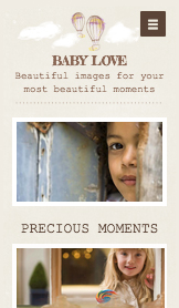 Events & Portraits website templates – Baby Photography