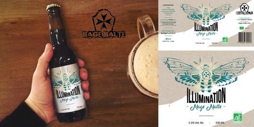 Refonte étiquette bière Illumination - Mage Malte
