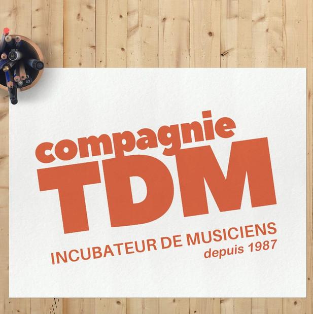 Logotype Compagnie TDM : école de musique du Mans