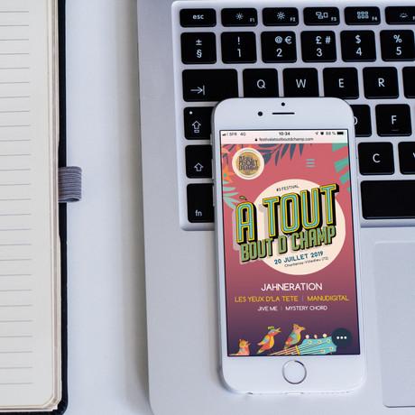 Déclinaison du site internet du festival, en version mobile.