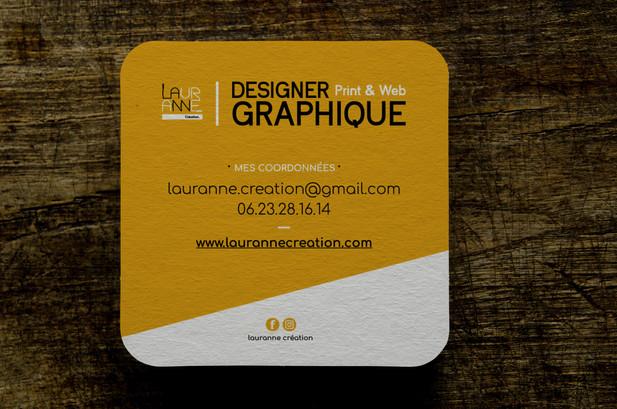 Cartes de visite Lauranne Création / Recto
