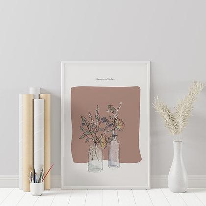 Illustration fleurs séchées - Affiche A4