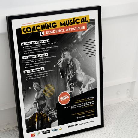 Affiche coaching musical et résidence artistique