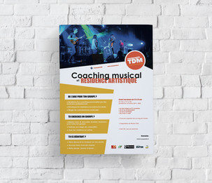 Affiche coaching musical 2019 - Compagnie TDM