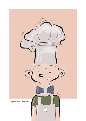 Illustration petit chef - Affiche A4