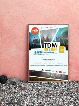 Affiche TDM on stage 2019 - Compagnie TDM
