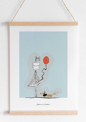 Illustration girafe - Affiche A4