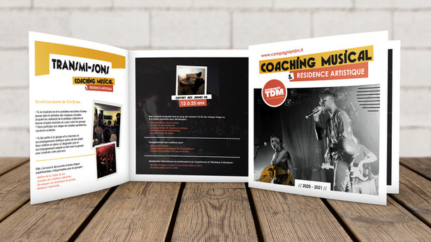 Dépliant coaching musical 2020 - Compagnie TDM