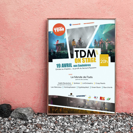 Affiche TDM On Stage