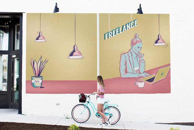 Illustration publiée sur les réseaux pour parler du statut de freelance / graphiste indépendant.