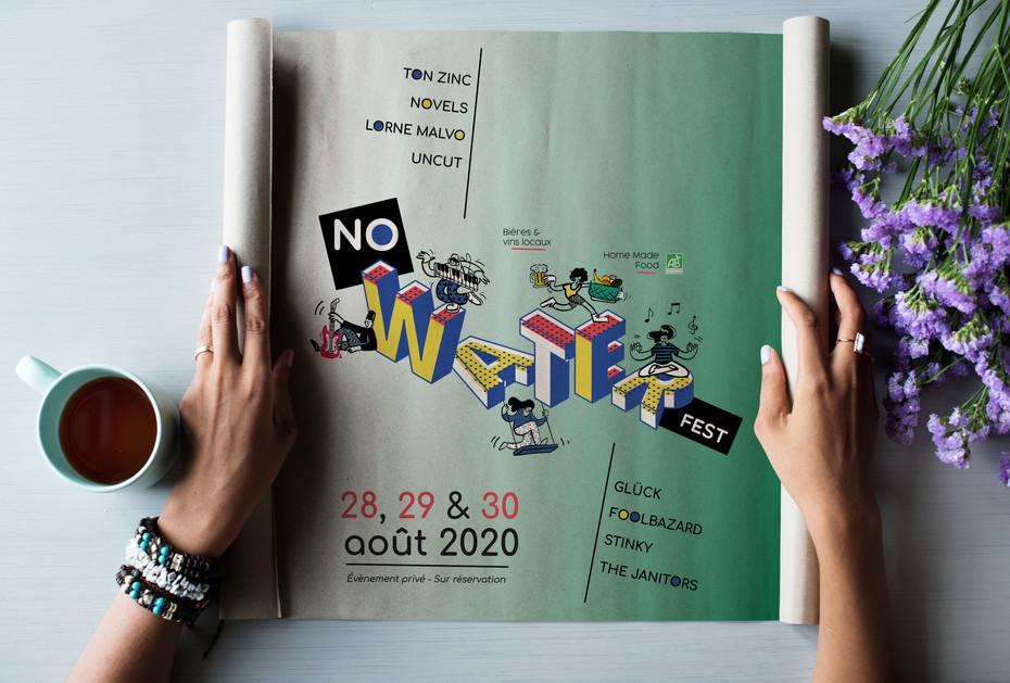 Visuel typographique et illustré, pour la 2ème édition du Festival  - Édition annulée