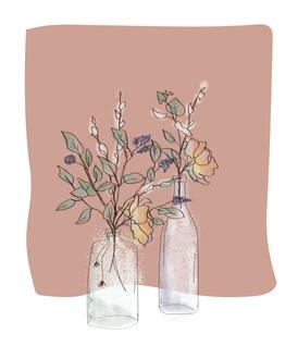 Illustration fleurs séchées