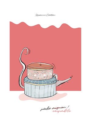 Illustration rat - Affiche A4