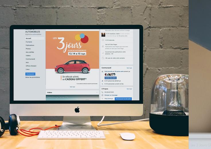Réseaux sociaux - Les 3 jours Glinche Automobiles