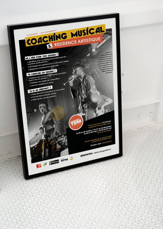 Affiche TDM on stage 2020 - Compagnie TDM