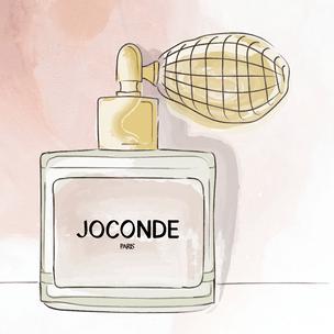 Illustration du futur parfum de JOCONDE PARIS, réalisée à partir du photomontage du flacon.