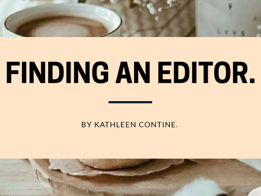 Finding an Editor: An Article by Kathleen Contine.