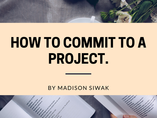 How to Commit to a Project.