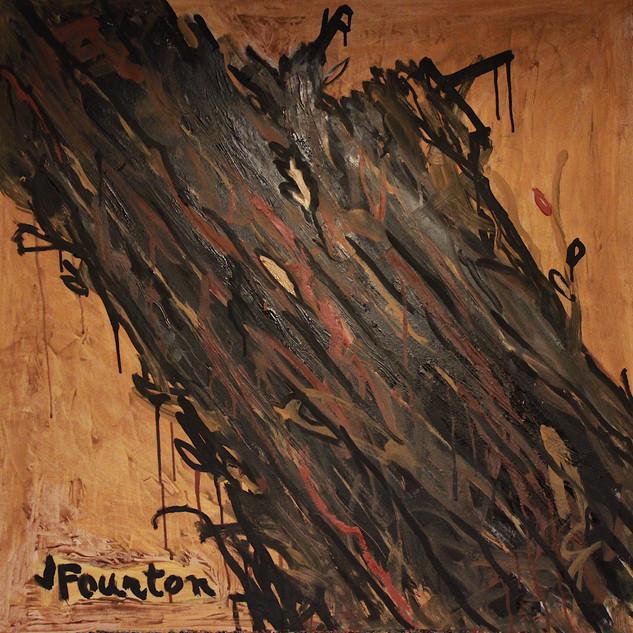 Louise, huile sur toile, 80X80 cm