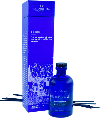 Difusor de Lavanda con Varillas de Rattan (220 ml)