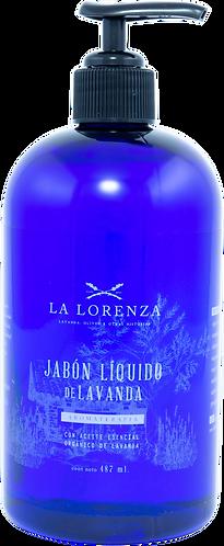 Jabón Líquido con Aceite Esencial Orgánico de Lavanda (487 ml)
